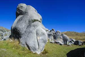 Limestone Outcrops on Castle Hill, Canterbury, South Island, New Zealand, Pacific by Michael