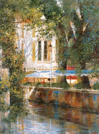 Awnings by the Canal by Michael Longo