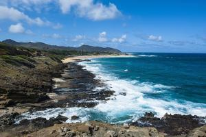 Lookout over Sandy Beach, Oahu, Hawaii, United States of America, Pacific by Michael