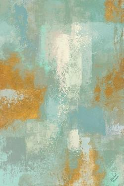 Escape into Teal Abstraction I by Michael Marcon