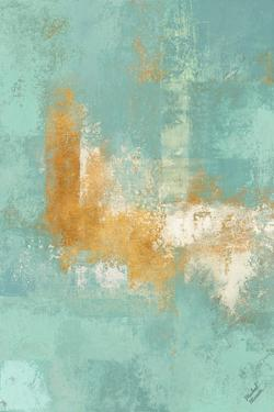 Escape into Teal Abstraction II by Michael Marcon
