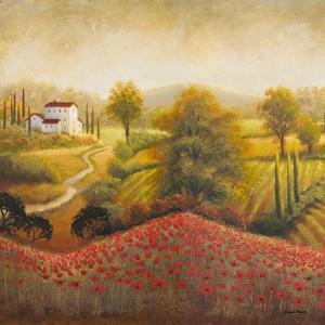 Flourishing Vineyard Square I by Michael Marcon