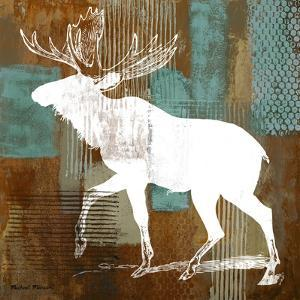 Moose on Abstract by Michael Marcon