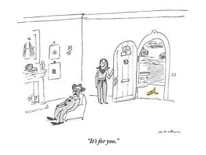 """""""It's for you."""" - New Yorker Cartoon by Michael Maslin"""