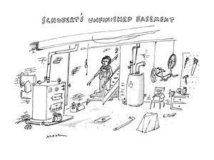 Schubert's Unfinished Basement: - New Yorker Cartoon by Michael Maslin