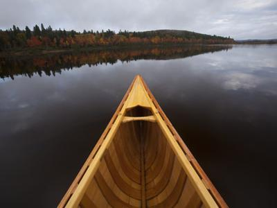 A Canoe on Maine's Allagash River by Michael Melford