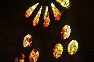 A Portion of a Rose Window at La Sagrada Familia Catedral by Michael Melford