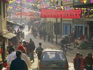 A Street Scene in Kathmandu by Michael Melford