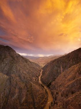 A Thunder Cloud Passes over the Middle Fork of the Salmon River by Michael Melford