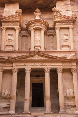 A View of the Treasury, Al Khazneh, in Petra by Michael Melford