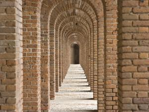 Brick Arches at Fort Jefferson in Dry Tortugas National Park, Florida by Michael Melford