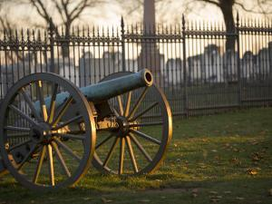 Cannon Outside the Fence at Gettysburg National Cemetery by Michael Melford