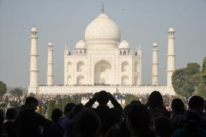 Crowds of Tourists at the Taj Mahal, Agra, India by Michael Melford