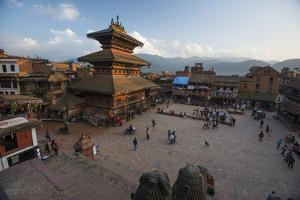 Durbar Square in the Medieval City of Bhaktapur by Michael Melford
