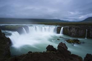 Godafoss Waterfall and the Glacial River Skalfandafljot by Michael Melford