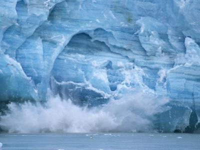 Hubbard Glacier Calving Chunks of Ice into the Water by Michael Melford