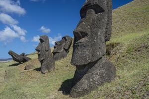 Moai of Hanga Roa by Michael Melford