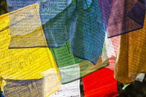 Prayer Flags at the Tiger's Nest Monastery by Michael Melford