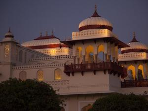Rambagh Palace Hotel Is Lit Up at Night by Michael Melford