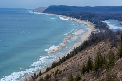 Sleeping Bear Dunes National Lakeshore on the East Side of Lake Michigan