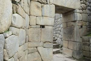 Stone Walls of Buildings of Machu Picchu by Michael Melford