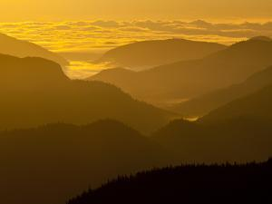 The Adirondack Mountains at Dawn from Atop Cascade Mountain by Michael Melford