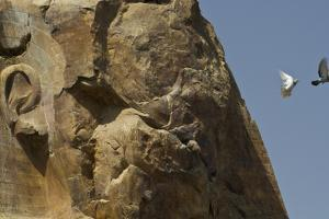 The Eroded Face of the Colossus of Memnon by Michael Melford