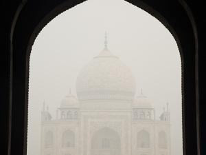 The Taj Mahal on a Foggy Day by Michael Melford