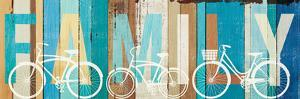 Beachscape Bicycle Family by Michael Mullan