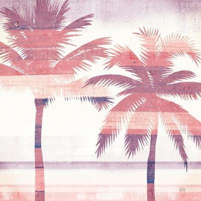 Beachscape Palms III Pink Purple by Michael Mullan