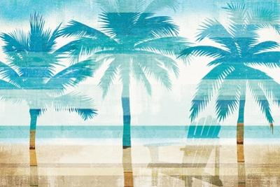 Beachscape Palms with chair by Michael Mullan