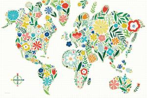 Floral World White by Michael Mullan