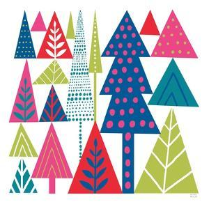 Geometric Holiday Trees II Bright by Michael Mullan