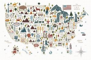 Illustrated USA Warm by Michael Mullan