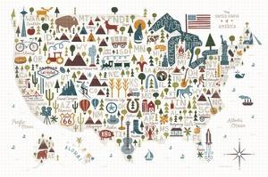 Illustrated USA Warm by Michael Mullan