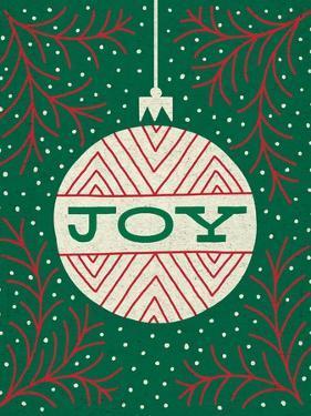 Jolly Holiday Ornaments Joy by Michael Mullan