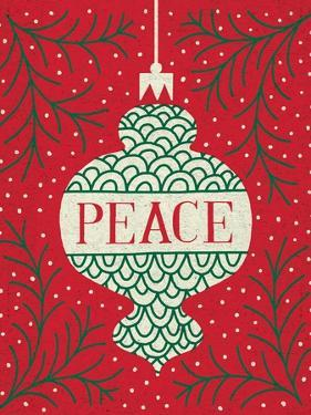 Jolly Holiday Ornaments Peace by Michael Mullan