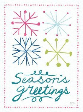 Merry Christmastime Snow Flake Bright by Michael Mullan
