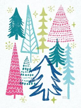 Merry Christmastime Trees Bright by Michael Mullan