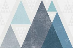Mod Triangles I Blue by Michael Mullan