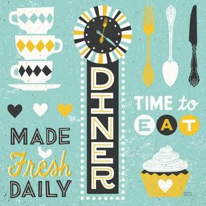 Retro Diner Pattern I by Michael Mullan