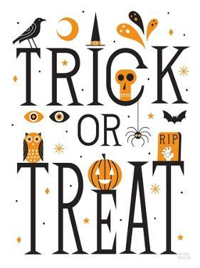 Trick or Treat I Bright White by Michael Mullan