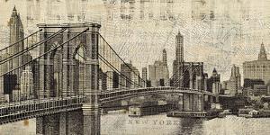 Brooklyn bridge posters at allposters vintage ny brooklyn bridge skylinemichael mullan malvernweather Choice Image