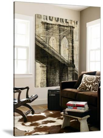 Vintage NY Brooklyn Bridge by Michael Mullan