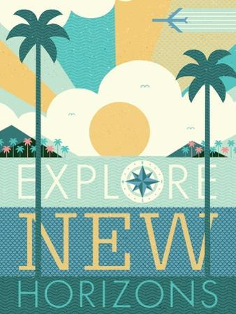 Vintage Travel Explore New Horizons by Michael Mullan