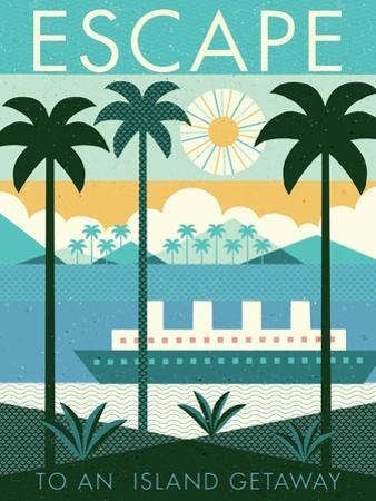 Vintage Travel Island Escape by Michael Mullan
