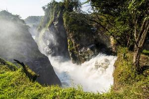 Murchison Falls (Kabarega Falls) on the Nile by Michael