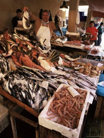 Fishermen in the Marsala Fish Market, Marsala, Sicily, Italy