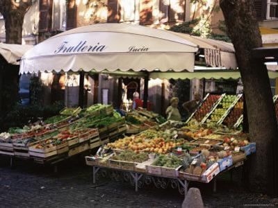 Fruit and Vegetable Shop in the Piazza Mercato, Frascati, Lazio, Italy