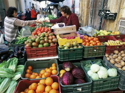 Street Market, Sanlucar De Barrameda, Andalucia, Spain